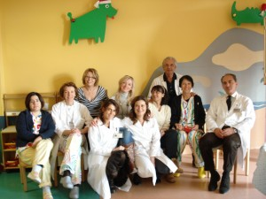 Foto di gruppo nel reparto Anomalie Vascolari